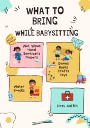 What To Bring While Babysitting